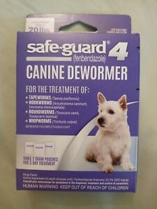 Excel 8In1 Safe-Guard Canine Dewormer For Dogs, 3-Day Treatment, 20 lbs Medium