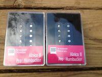Seymour Duncan APH-1 Alnico II Pro Neck & Bridge Pickup Set Black Humbucker