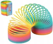 MEGA RAINBOW SPRING TOY - SC54 COLOURFUL 10CM WIDE STRETCHY STAIR SPRING FUN