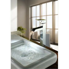 Bathroom Deck Mounted Chrome Brass Waterfall Faucet Basin Faucets Hot&Cold Water