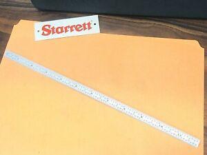 "STARRETT No.C316R-12  12"" Long Full-Flexible Steel Rule with Inch Grad. USA Made"