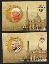 Filippine, 2014, Canonizzazione Papa Giovanni XXIII e Papa Giovanni Paolo II.