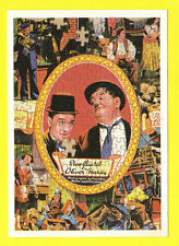 ACTORS  -  MUSEUM OF THE MOVING IMAGE  POSTCARD  -   ACTORS  -  LAUREL  &  HARDY