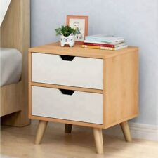 Wooden fancy nightstand bedside table with 2 drawers  P19S