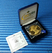 2002 Scouts 22K Gold Plated Medallion (The Queen's Golden Jubilee 1952-2002)