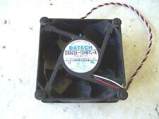 Computer Cooling Fan DATECH model DS9238-12HBTL-A 12VDC 2.0 Amp 92mm. Case Fan