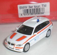 HERPA 049238 MINIATURA BMW 3er TOURING EMERGENCY Werksfeuerwehr 1:87 HO NEW OVP
