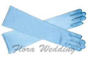 Disney Frozen Elsa/Cinderella Magical Girl's Satin Gloves for costume prom dress