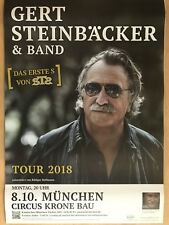 GERT STEINBÄCKER - STS - 2018 MÜNCHEN  - orig.Concert Poster -- Plakat   A1  NEU
