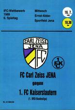 IFC 19.07.1989 FC Carl Zeiss Jena - 1. FC Kaiserslautern, Edition B, InterToto