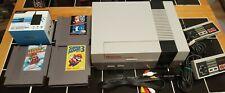 Nintendo NES Console System Mario Bros 1 2 3 Origional Referb Pins 2 Controllers