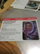 Easy Child Or Adult Candy Stripes Hooded Cowl Crochet Pattern