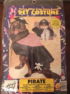 Rubies Cute Dog Halloween Costume Pirate Size Large (18-20 in from neck to hind