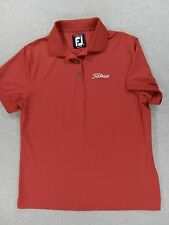 FootJoy Titleist ProDry Lisle Short Sleeve Golf Polo Shirt (Womens Large) Red