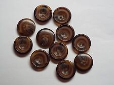 10pc 15mm Woodland Brown Mock Wood Shirt Suit Cardigan Knitwear Button 4000