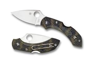 Spyderco Dragonfly 2 Lockback Knife Zome Green FRN VG-10 C28ZFPGR2