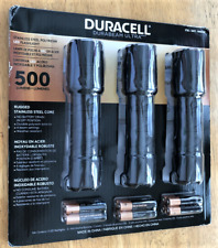 Lot of 3 Duracell Durabeam Ultra Led Flashlights 500 Lumens Batteries Included