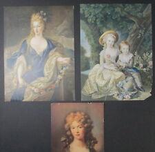 3 Georgian Era Prints Madame Royale Le Brun, La Duchesse de Mantoue De Troy Plus