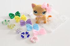 10 Mixed ❤️ Accessories Necklaces & Bows For Littlest Pet Shop LPS CAT NOT INCL