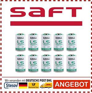 10x Saft LS14250 Special Battery CR1/2 Aa Lithium 3.6V 1200 MAH ER14250