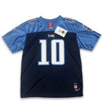 NFL Kids Tennessee Titans Vince Young #10 Football Blue Jersey Size Youth XL NWT