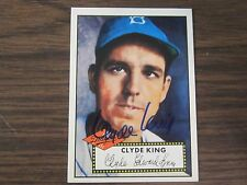 1995 Dodgers Archive # 12 Clyde King Autographed / Signed card Brooklyn Dodgers