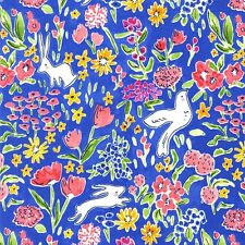 By 1/2 Yard Michael Miller Fabric Garden in Blueberry ~ Sommer Sarah Jane Floral