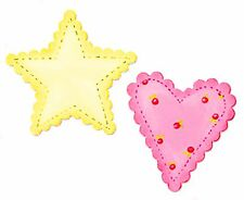 Sizzix Bigz Scallop Heart & Star die 656375 MSRP $19.99 Cuts fabric, Rare!!