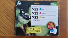New with Box Expiration 2015 HP 933 Cyan Magenta Yellow Genuine Ink Cartridges