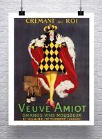 Veuve Amiot Vintage Leonetto Cappiello Liquor Poster Canvas Giclee 24x30 in.