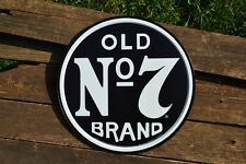 Jack Daniels Old No. 7 Brand Tin Metal Sign - Button - Tennessee Whiskey - Retro