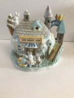 Vintage Bunny Towne Easter Village House Porcelain Hand Painted For Ames
