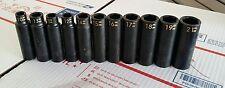 "Matco Tools 1/2"" Dr 11-Pc Metric 6 Pt Deep Impact Socket Set"
