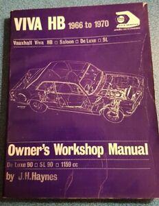 Haynes Owner's Workshop Manual: Vauxhall Viva HB 1966 to 1970