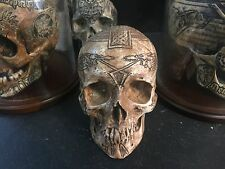 Real Human Skull Celtic Carving Replica Goth Gothic Signed occult memento mori