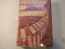 A Handbook to Literature [Hardcover] Thrall, William Flint