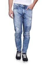 Guess señores tapered Jeans, azul, grietas y destroyed-efectos, w33 l29/30