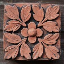"""Victorian decorativo in mattoni copia anticato TERRACOTTA Muro Piastrelle """"QUADRIFOGLIO"""" 15cm"""