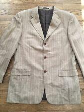 Trussini Tan Striped Blazer Jacket Size 56