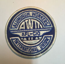 VINTAGE RARE ORIGINAL Aluminum Workers SEW ON EMBROIDERY CLOTH PATCH -ITEM#103