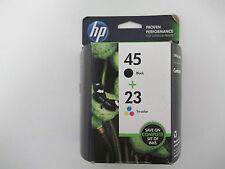 C8790FN - Genuine, HP 45/23 Black/Tricolor Ink Cartridges, 2/Pack, Expired
