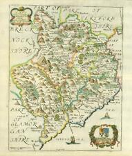 1673 1st ISSUE Wales Map MONMOUTHSHIRE 'A MAPP OF MONMOUTHSHIRE' Richard Blome