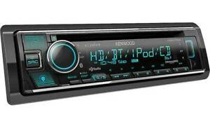 NEW Kenwood KDC-X704 Single DIN, Bluetooth, CD/AM/FM, Car Stereo Receiver
