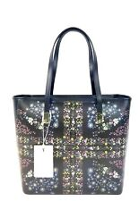 Ted Baker Tote Small Leather Unity Flap Shopper Handbag (Black)