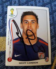 Panini Sticker WM 2014 signiert Geoff Cameron USA NEU
