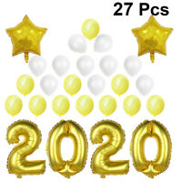 27 pcs 16 Inch 2020 New Years Party Foil Balloons for Events Eve Party Decor