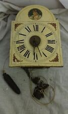 antike kleine Schilderuhr Bilderuhr mit Wecker für Bastler