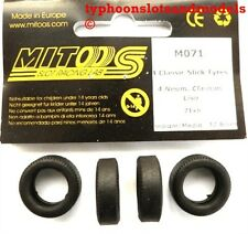 M071 Mitoos Classic Slick Tyres x 4 - 21 x 6mm - New