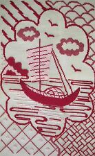 EP 1184 Red Boat Madeira Vintage Preworked Needlepoint Canvas