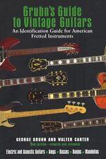 Gruhn's Guide to Vintage Guitars Acoustic Guitar Banjo Mandolin Music Book